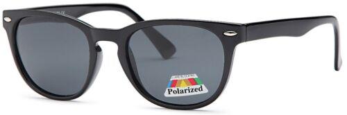 Retro Horned Rim Keyhole Round Horn Rimmed Vintage Black POLARIZED Sunglasses