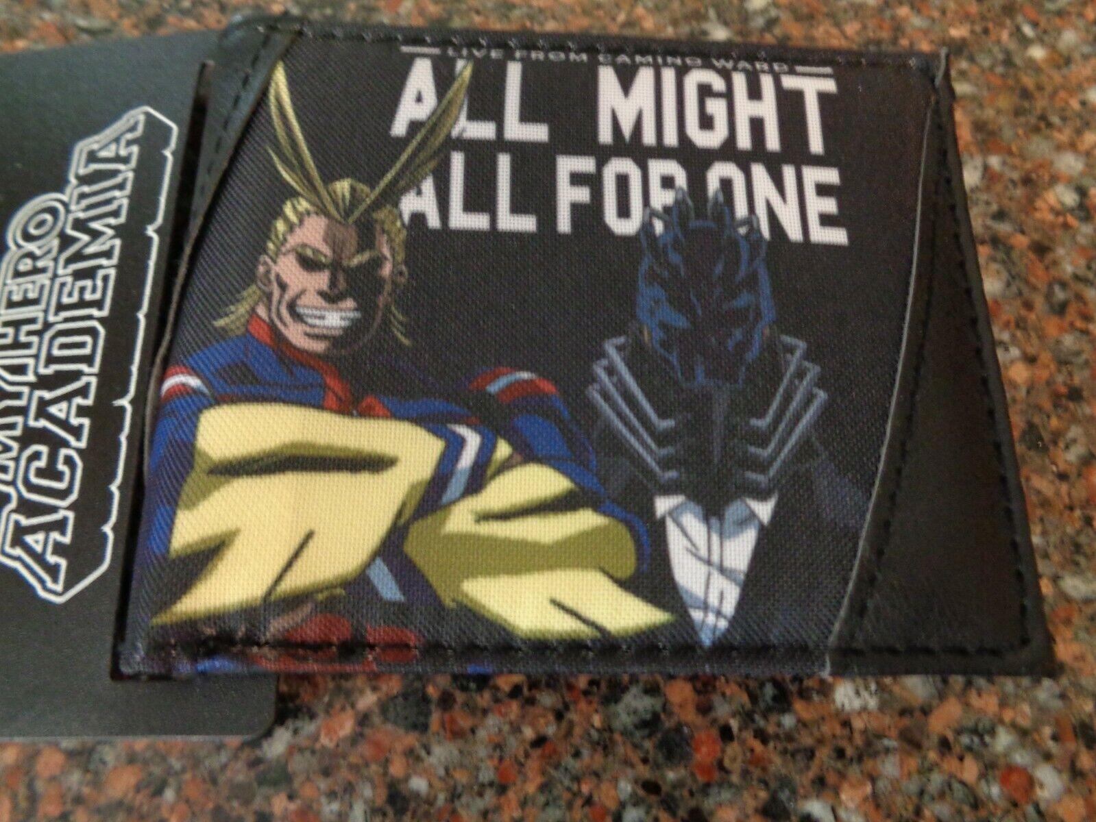 My Hero Academia Epic Battle Bifold Wallet Cotton / Polyurethane NWT Bioworld