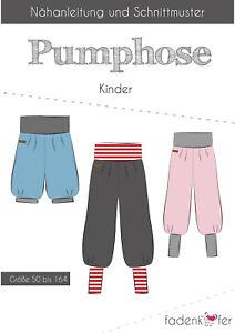 Papierschnittmuster Baggy Trousers Children From Fadenkäfer Gr.50 To 164 No.