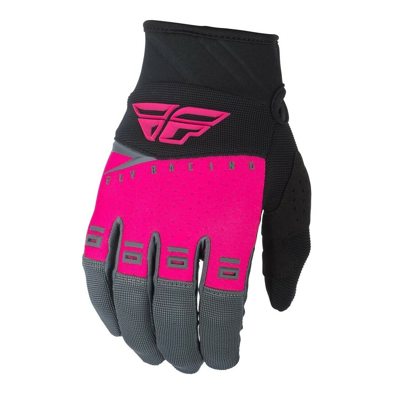 Fly 2019 F-16 Adult Gloves Pink/Grey Adult Mx Enduro