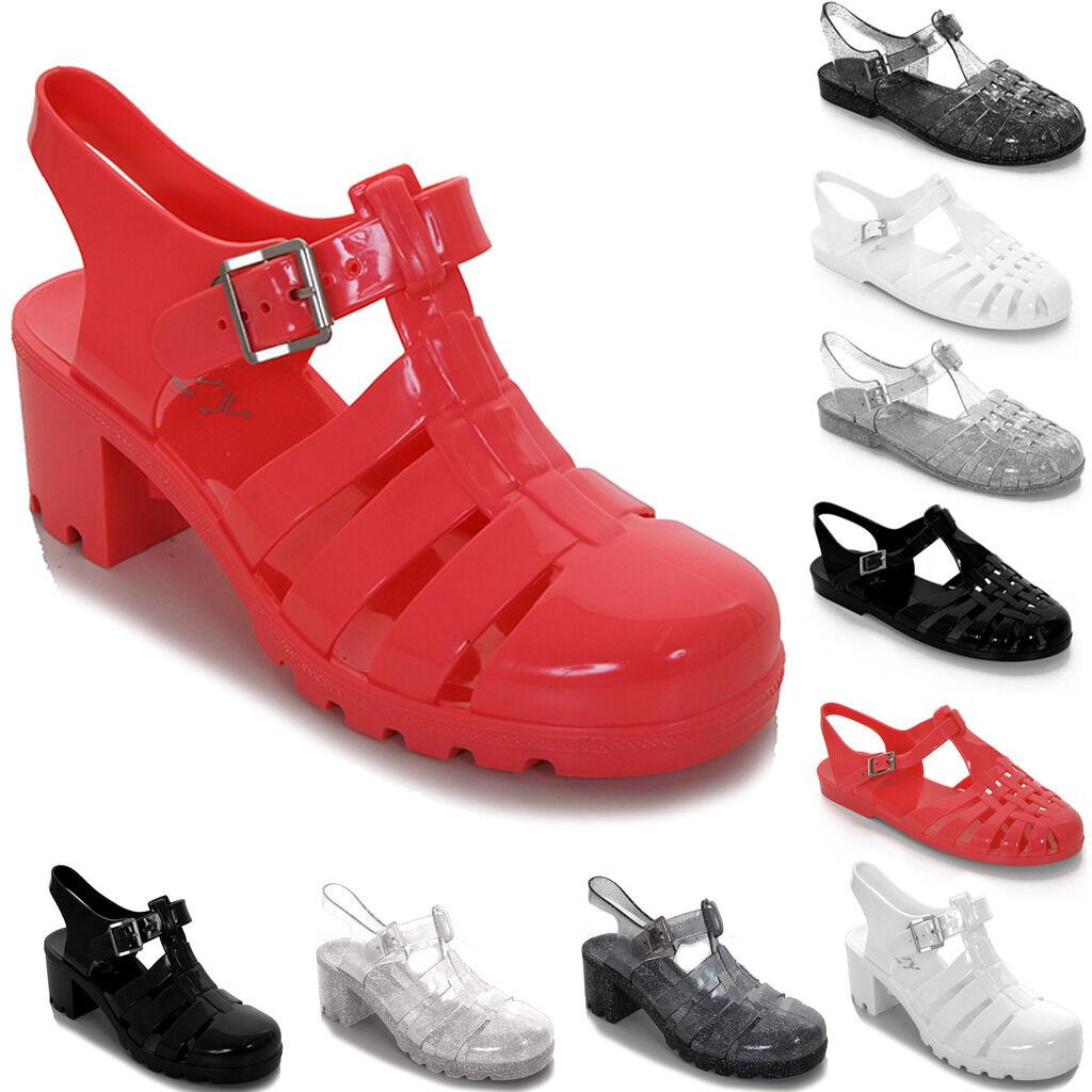 Man/Woman Ladies Glitter Plain Beach Block Flat Heel Summer Shoes Flip Flop Jelly Sandals Shoes Summer Long-term reputation First quality Simple RH176 cf74bf