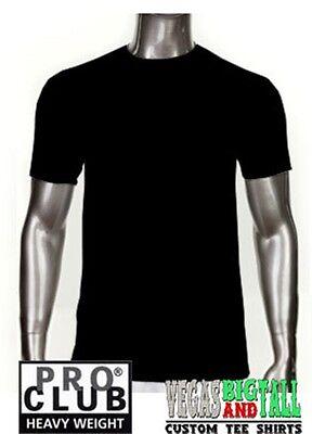 1 NEW PROCLUB HEAVY WEIGHT T-SHIRT WHITE PLAIN PRO CLUB BLANK BIG 10XL 1PC