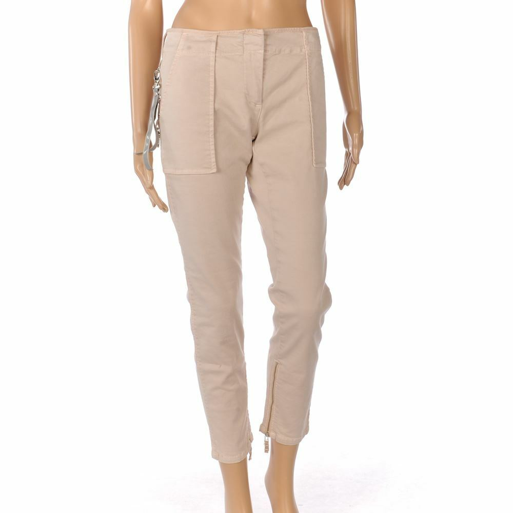 Rosao Jeans BlassRosa Enge Passform Abgeschnitten Baumwolle Schnallen Größe 40