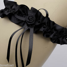 Jarretière mariage ruban fleur noir accessoire de mariage