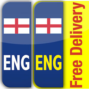 ENG English Flag Badge Car Number Plate Vinyl Stickers UK Legal - Vinyl stickers uk