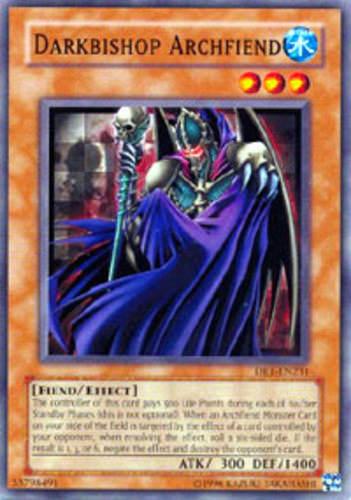 Yugioh! Darkbishop Archfiend - DR1-EN231 - Common - Unlimited Edition Near Mint,