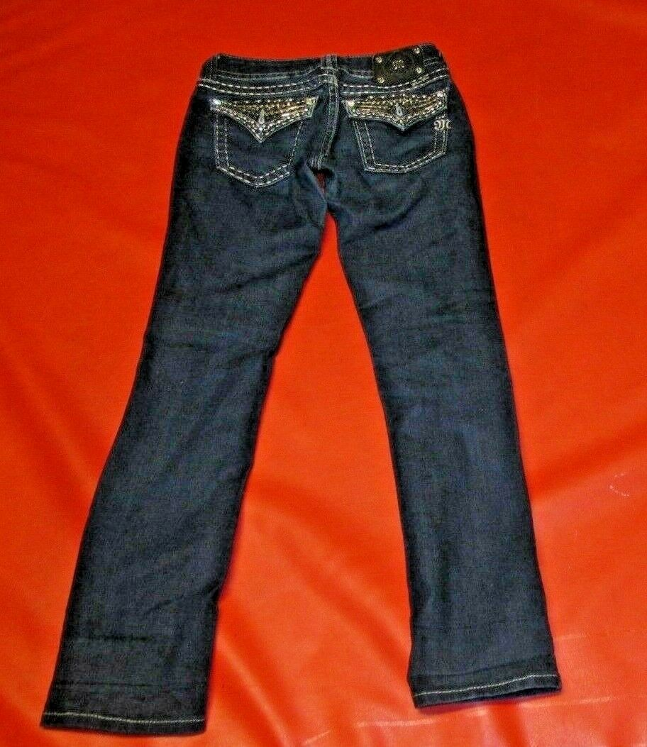 MISS ME STRAIGHT WOMENS blueE JEAN JE5489T3R SIZE (27) ACTUAL 27 X 31