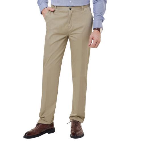 PJ Men/'s Business Slim Fit Casual Multi-Pocket Cotton Pants Trousers Plus Size
