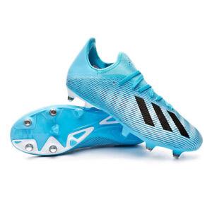 Dettagli su Scarpe da Calcio Uomo Adidas X 19.3 SG Col. AzzurroNero