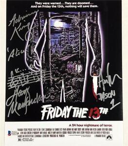 1980 Friday the 13th JASON cast signed 8x10 movie poster photo ~ Beckett BAS COA