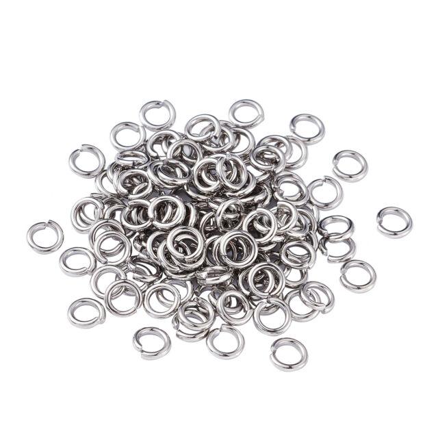 Jump Rings 6mm 100//200//500 Stainless Steel 16 Gauge 1.2mm Open Jumprings F1625