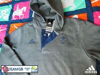 Adidas Team Gb Issue -training For Rio 2016- Athlete Hooded Rugby 7's Sweatshirt