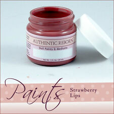 AuThEnTiC ReBoRn StRaWbErRy LiPs Paint  ~ 1 OuNcE ~ REBORN DOLL SUPPLIES