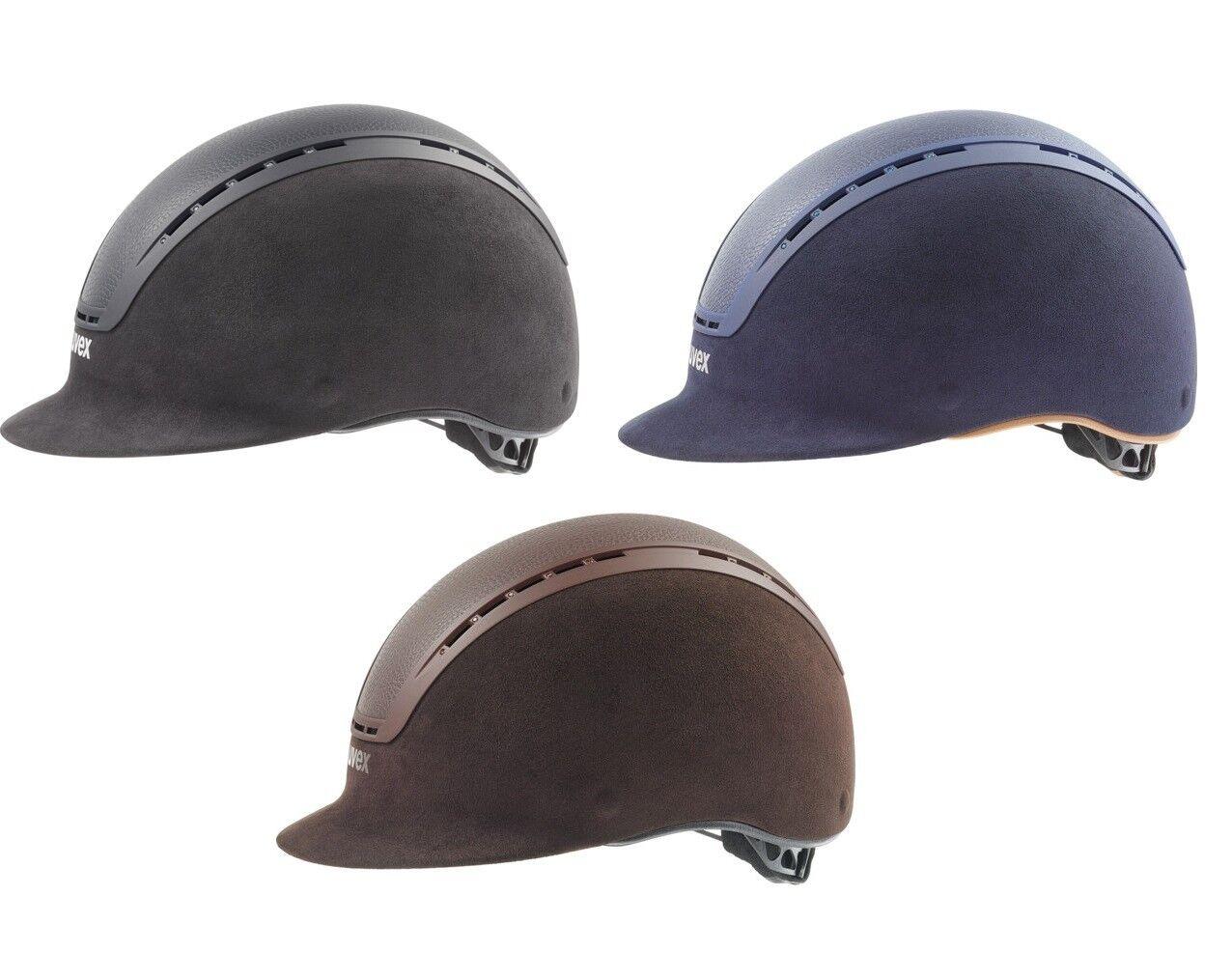 Uvex Casco De Equitación Sombrero Ajustable De Lujo suxxeed kitevg 1 Negro azul marrón XXS-L