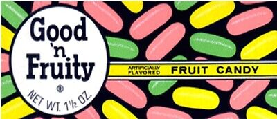 1960s Good /'N Fruity Fruit-Flavored Candy Box replica  fridge magnet new!