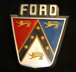 OLD 1950's Ford shield crest Jubilee sign. see my other porcelain neon auctions