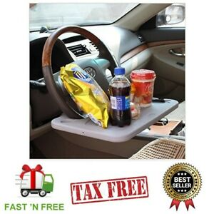 NEW Laptop Steering Wheel Desk Auto Car Computer Mount Holder Eating Tray Stand