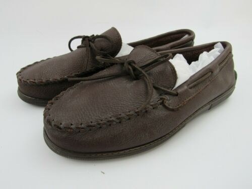 Minnetonka Mens Moccasin Shoes 13 Brown Moose Leat