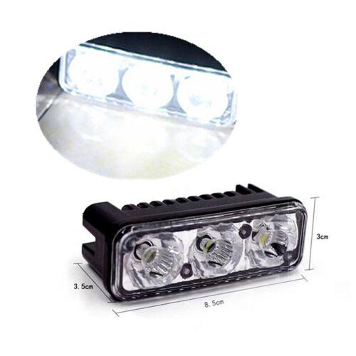 2X White High Power Car DRL Daytime Running Light Fog Lamp Universal Plastic