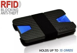 0ee13cf07d16 Carbon Fibre ID Wallet Money Clip and Credit Card Holder Slim Small ...