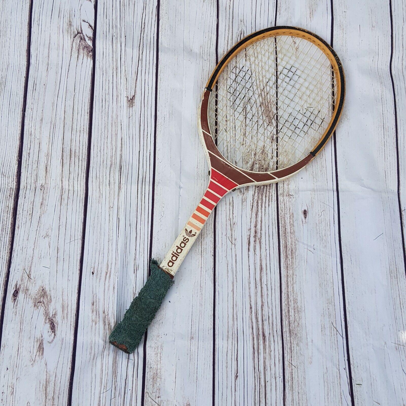 Vintage Adidas Originals Ads 540 Wooden Tennis Racket Florence De La Courtie For Sale Ebay