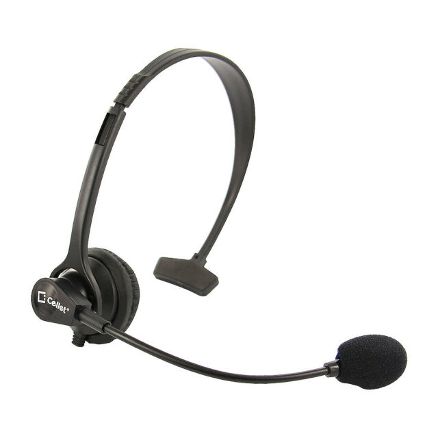 Cellet 3.5mm Hands-Free Headset with Boom Mic for Home Office Cell Phones