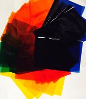 64 Sheets of Assorted Coloured Cellophane A4 Size