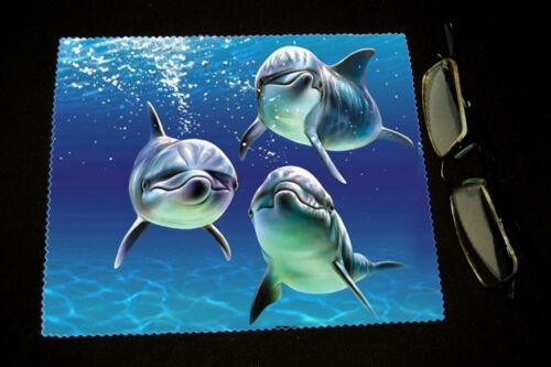 Chiffonnette essuie lunettes dauphins mod 1