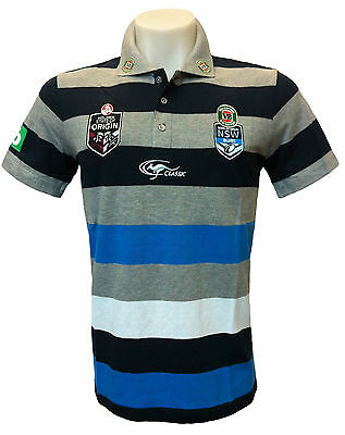 NSW State of Origin Official Training Polo Shirt Sizes S-XL Knit BNWT4 NRL
