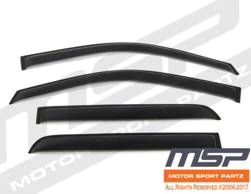 4pcs Dark Smoke Out-Channel Visor Rain Guards For Cadillac Escalade 2007-2014