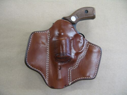 88  Revolver 2 Clip IWB Leather Conceal Carry Holster CCW TAN RH Rossi 66