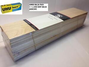 Balsa-Wood-Giant-Mixed-Bundle-UHU-HART-Adhesive-034-SPECIAL-DEAL-034-450x100-x100mm