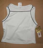 Body Wrappers Sports Tank Cotton Spandex Frontlined White Black Preteen14/16