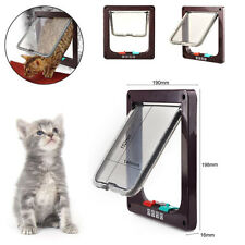 4-Way Magnetic Lockable CAT Kitten Dog Pet safe Flap Door Small Medium12lb