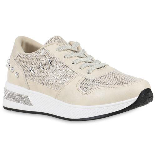 Damen Sportschuhe Laufschuhe Glitzer Turnschuhe Training Sneaker 820831 Schuhe