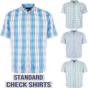 NUOVA-linea-uomo-manica-corta-Camicie-giorni-Lavoro-Casual-Formale-Smart-Vestito-Check-Top