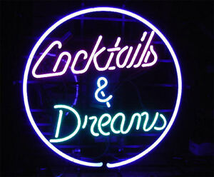 """New Cocktails And Dreams Dancer Beer Bar Pub Neon Sign 17""""x14"""" Ship From USA"""