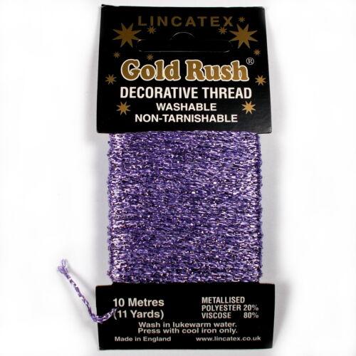 Gold rush métallique décoratif paillettes fil de broderie carte 10m-choix de couleurs