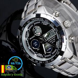 12f4a7a5d0cd La imagen se está cargando Reloj-de-Hombre-Digital-Militar-Deportivo -Acero-Para-
