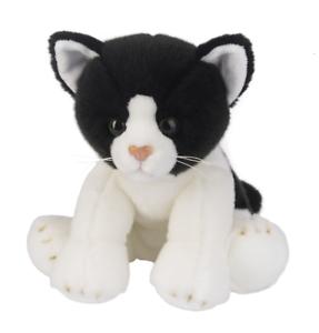 L K Ganz Heritage Black White Cat 12 H13902 Stuffed Animal Ships