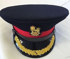 Image is loading British-Army-Staff-Officers-Peak-No1-Cap-Colonel- 160228bcfcb