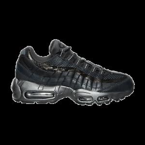 Size-5-Nike-Women-AIR-MAX-95-PREMIUM-RUNNING-SHOES-807443-001-Black-Silver