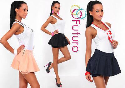 Sexy & Elegant Women's Mini Skort Skirt Shorts Culottes Sizes 8-18 8351