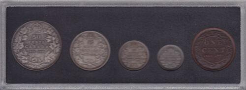 1908-1998 Canadian Commemorative Antique Finish Set in Box /& COA