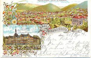Friedrichroda, Farb-Litho, 1901 - Deutschland - Friedrichroda, Farb-Litho, 1901 - Deutschland