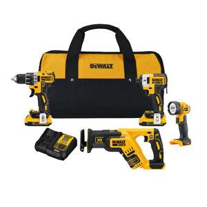DEWALT-20V-MAX-XR-Cordless-Brushless-4-Tool-Compact-Combo-Kit-DCK484D2R-Recon