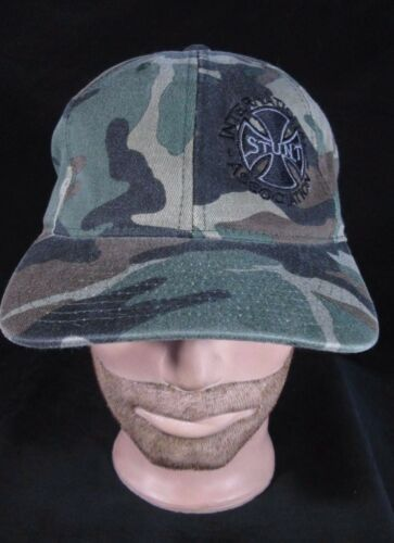 """RARE"" ISA INTERNATIONAL STUNT ASSOCIATION Men's Women's Cap Hat CAMO L - XL"