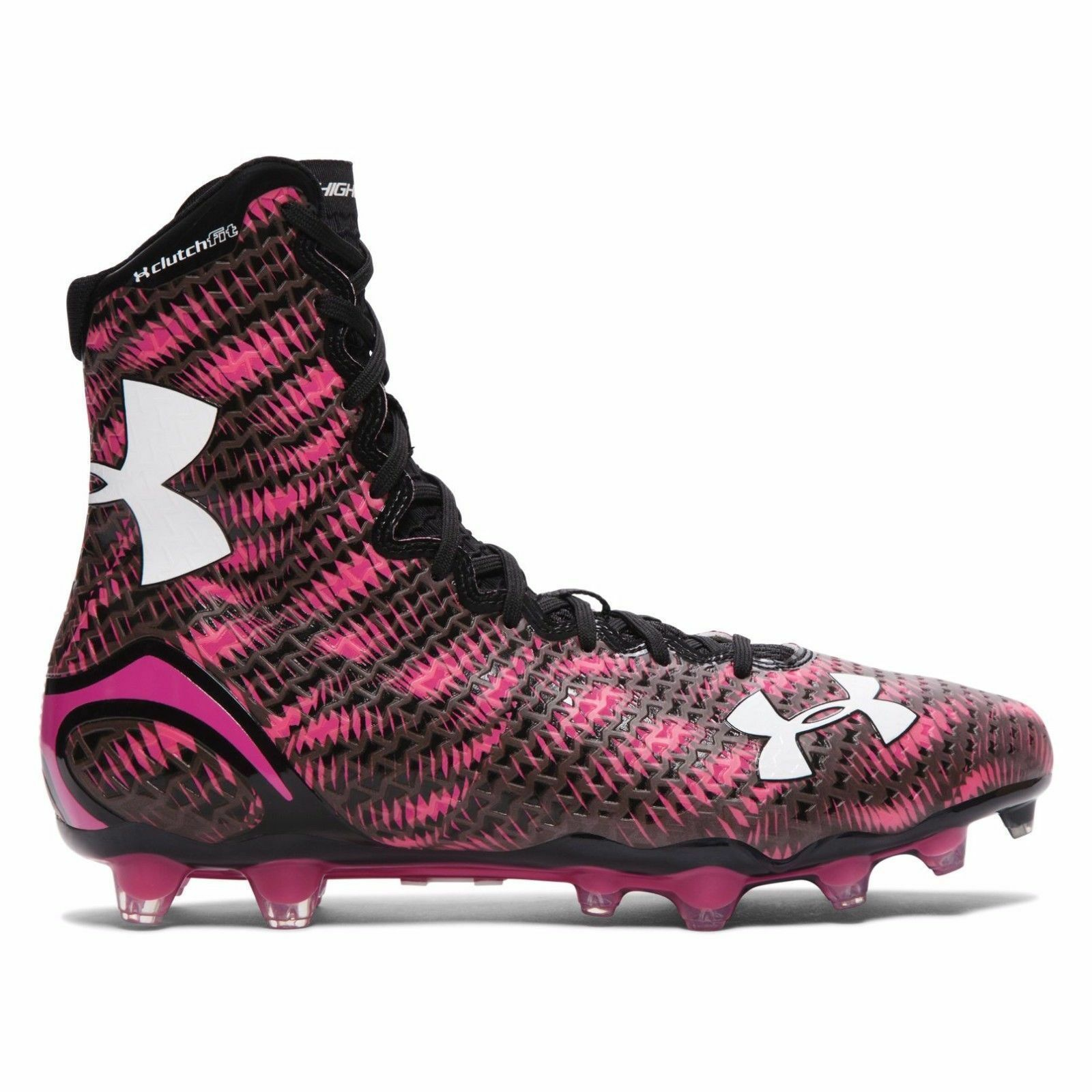 hommes 10/11.5 under armour highlight MC molded lacrosse cleats 1258400 BCA/rose