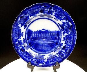 Adams-amp-Co-Durchfluss-Blau-die-Weiss-Haus-mit-Blumen-Felge-10-0-6cm-Platte-579mS