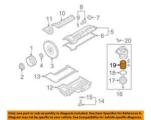 BMW OEM 06-10 M6 Engine-Oil Filter 11427840594